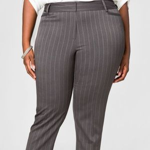 Grey and silver pinstriped pants size 16.
